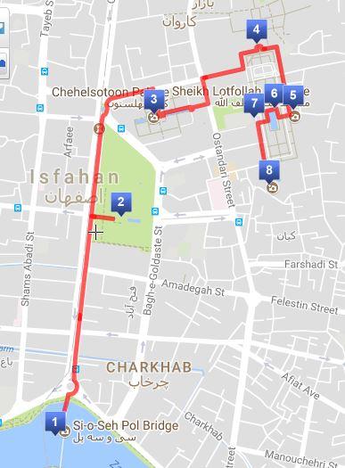 Isfahan-Itinerary-maps